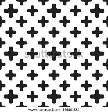 Cross pattern - stock vector