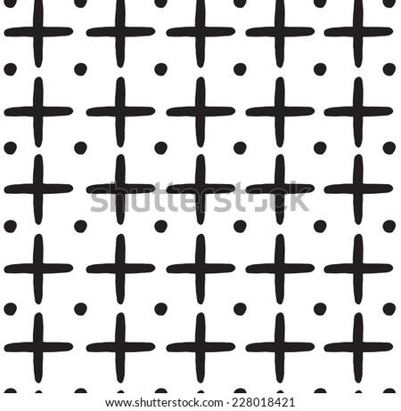Cross pattern. - stock vector