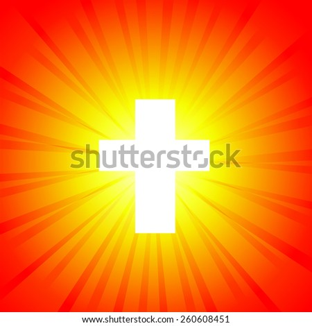 cross shining. Vector - stock vector