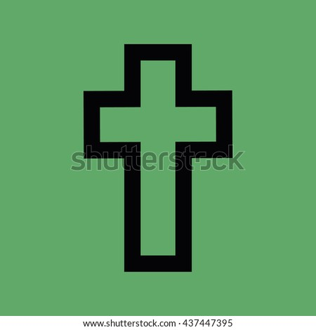 Cross symbol icon vector - stock vector