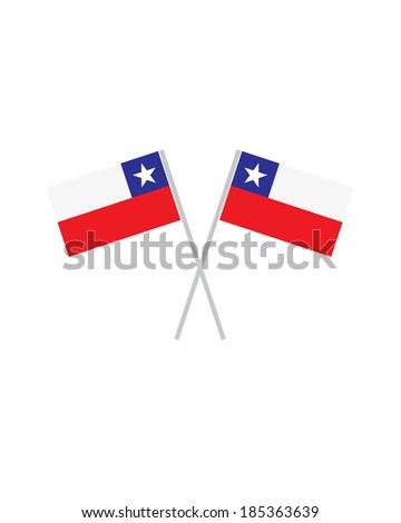 Crossed Chile Flags - Vector - stock vector