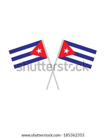 Crossed Cuban Flags - Vector - stock vector