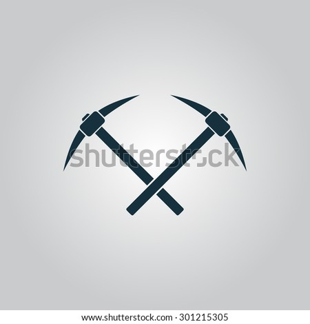 Crossed powered icebreaker. Flat web icon or sign isolated on grey background. Collection modern trend concept design style vector illustration symbol - stock vector
