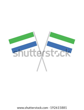 Crossed Sierra Leone Flags - Vector - stock vector