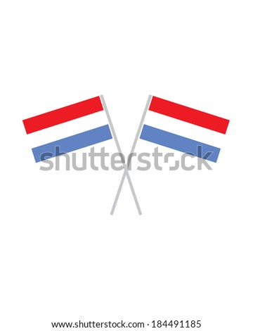 Crossed Vector Luxembourg Flags - stock vector