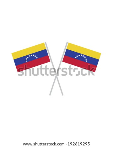 Crossed Venezuela Flags - Vector - stock vector