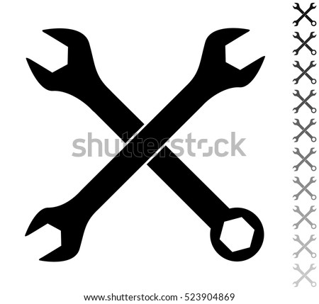 Wrench black and white