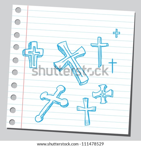 Crosses - stock vector