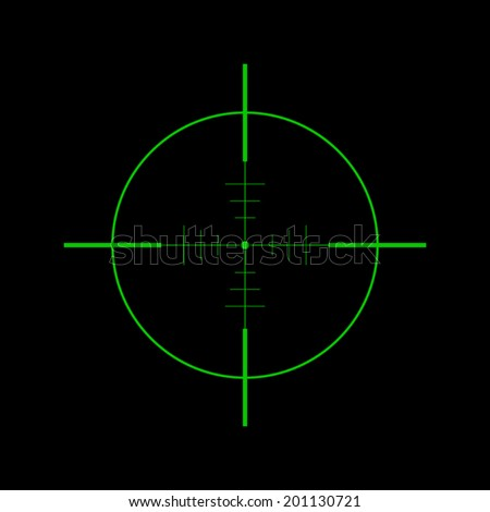 Crosshair icon - Vector - stock vector