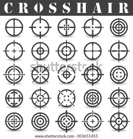 Crosshair.Icons set in vector - stock vector