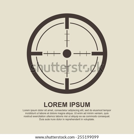 Crosshair, Target icon - Vector - stock vector