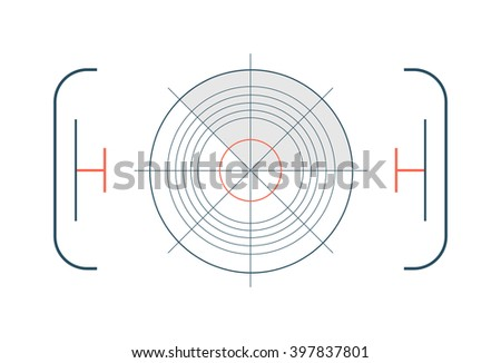 Crosshair target with red dot and target accuracy game circle. Target circle concept dartboard, business goal strategy. Winner target marketing. Crosshair target symbol success aim circle vector. - stock vector
