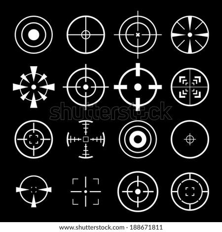 Crosshairs Icon - stock vector