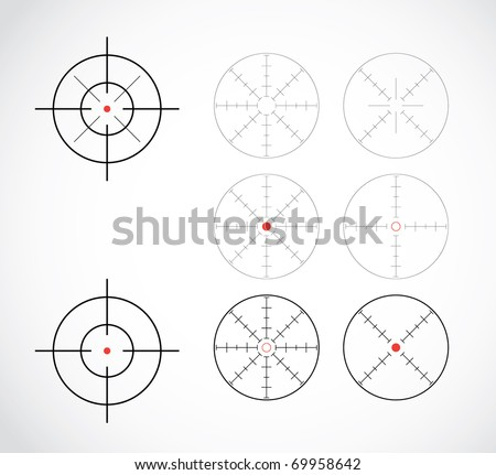 crosshairs set illustration - stock vector