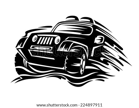 Crossover car for race sports design. Vector illustration - stock vector