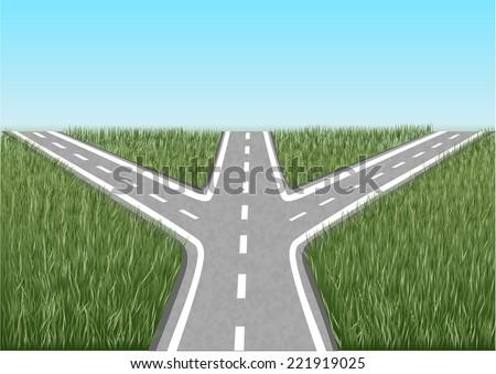 crossroads. - stock vector