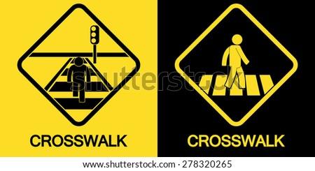 Crosswalk Sign - stock vector