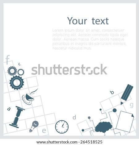 Crossword background - stock vector