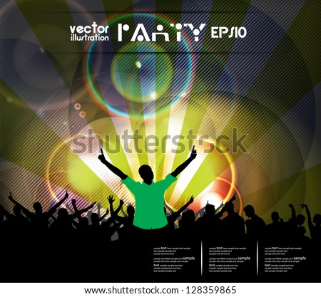 Crowd at a concert - stock vector