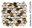 Crowd of funny peoples for your design - stock vector