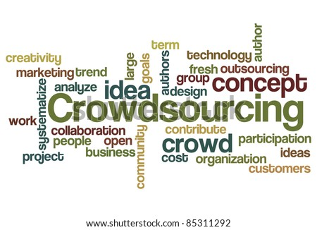 Crowdsourcing Word Cloud - stock vector
