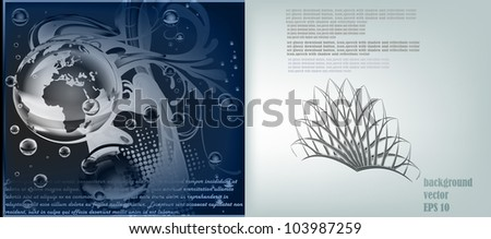 Crown and Water, Bubbles, Rain. A vector template of the brochure. A background for the company with the text. EPS 10 - stock vector