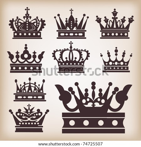 crown collection set heraldry