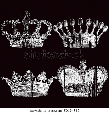 crown decorated with the King lilies. - stock vector