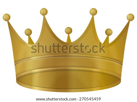 Crown gold on a white background. Vector illustration. - stock vector