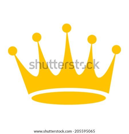 Crown gold vector icon - stock vector