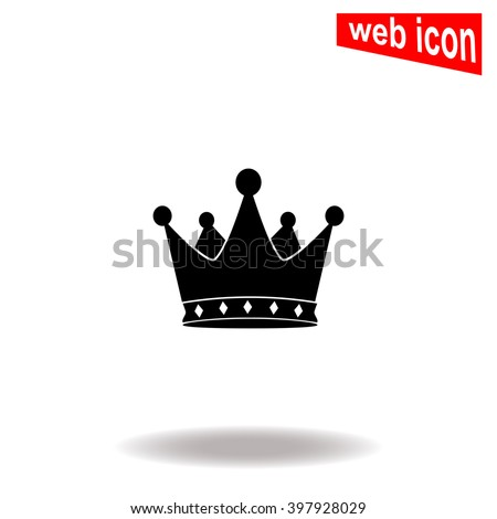 Crown icon. Crown icon vector. Crown icon illustration. Crown icon web. Crown icon Eps10. Crown icon image. Crown icon logo. Crown icon sign. Crown icon art. Crown icon flat. Crown icon design. App. - stock vector