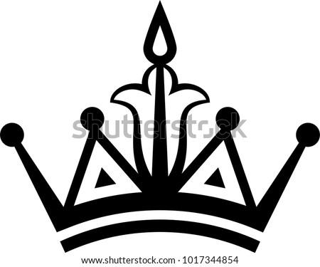 crown icon crown vector art illustration stock vector 1017344854 rh shutterstock com queens crown vector art king crown vector art