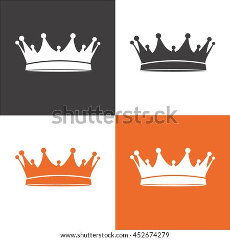 crown icon vector. King symbol