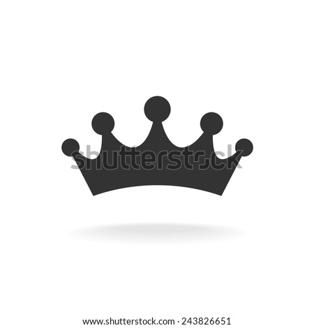 Crown of earl vector illustration. Black isolated silhouette on white background - stock vector