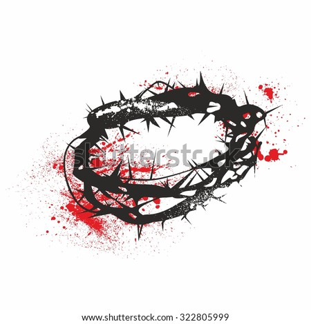 Crown of thorns - stock vector
