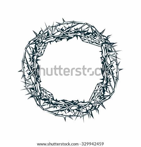 Crown of thorns, Jesus - stock vector