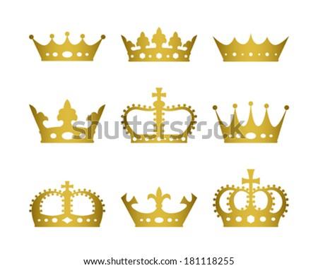 Crown Set - stock vector