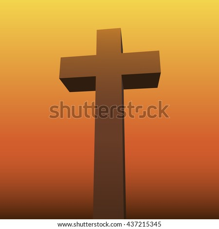 Crucifix. Crucifixion of Jesus Christ. Background. Cross.  - stock vector