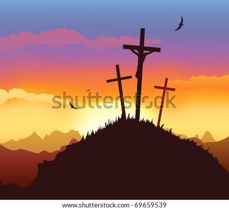 Crucifixion - stock vector