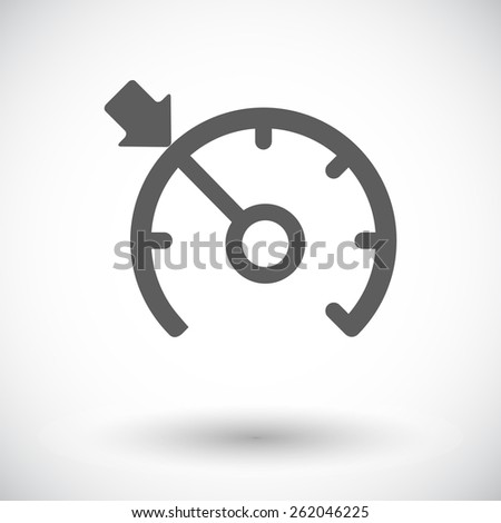 Cruise control. Single flat icon on white background. Vector illustration. - stock vector