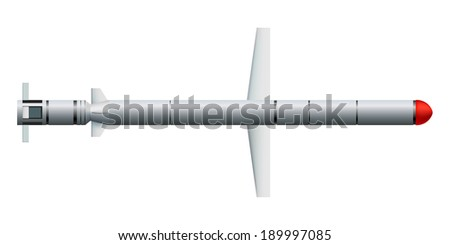 Cruise missile on a white background