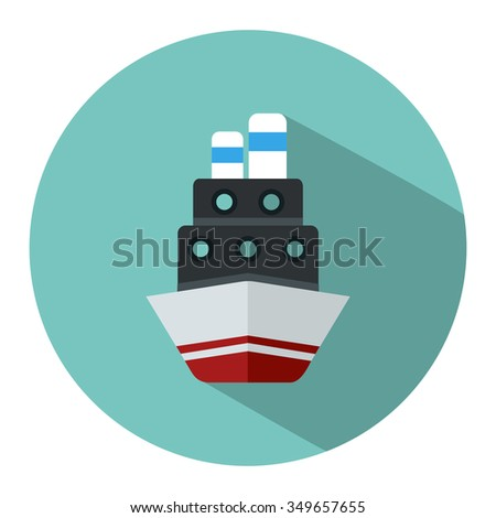 cruise ship icon - stock vector