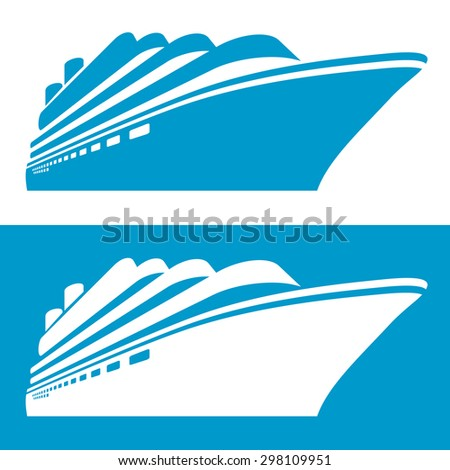 Cruise ship icon. Vector illustration. - stock vector
