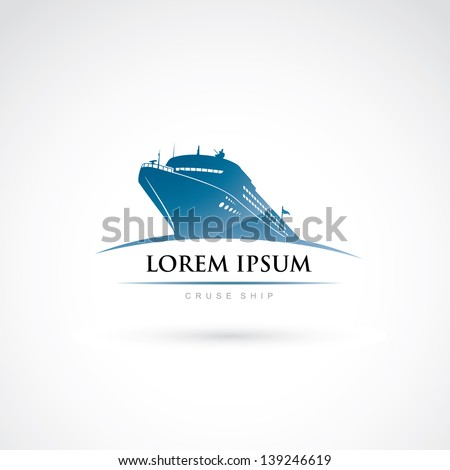 Cruise travel label - vector illustration