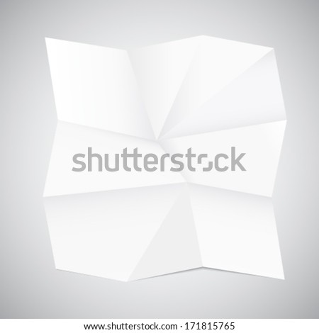 Crumpled paper - stock vector