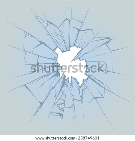 Crushed glass, hand drawn, vector illustration