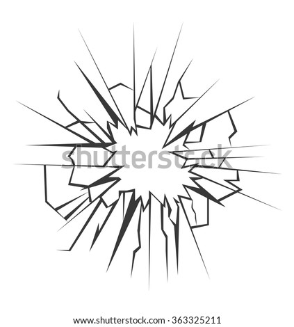 Crushed glass hand drawn, vector illustration