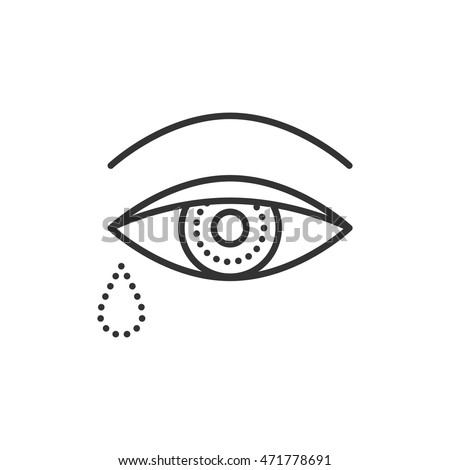 Crying Eye Tears Symbol Death Funeral Stock Vector 471778691