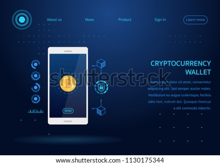 Cryptocurrency Wallet Webpage Design