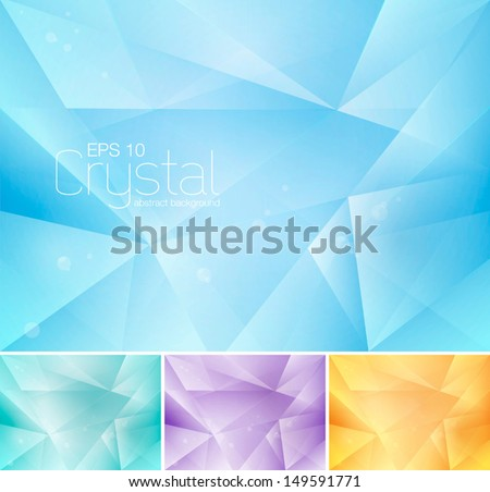 Crystal abstract background - stock vector